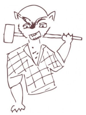 Werewolf Lumberjack Smell Bent para Hombres